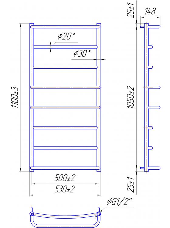 Купити Люкс HP 1100x530/500