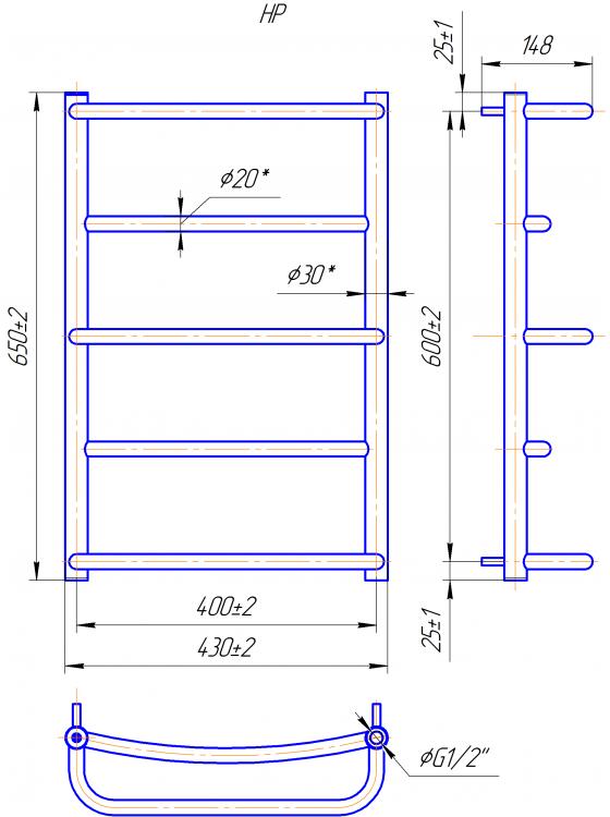 Купити Люкс HP 650x430/400