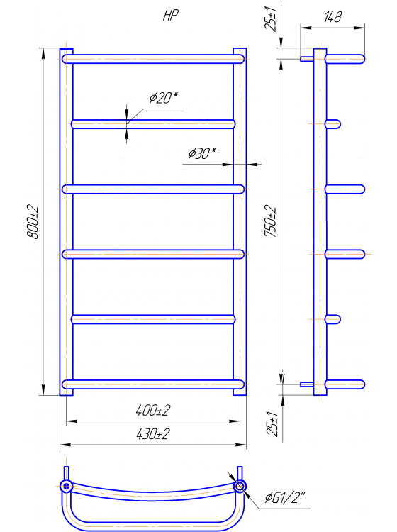 Купити Люкс HP 800x430/400