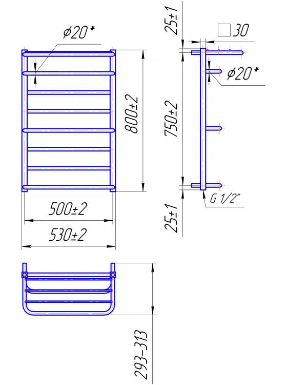 Купити Люксор 800x530/500