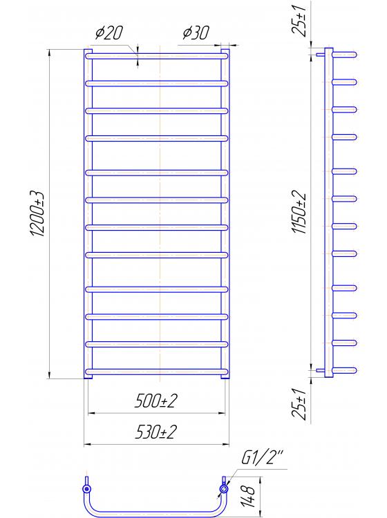 Купити Стандарт 1200x530/500
