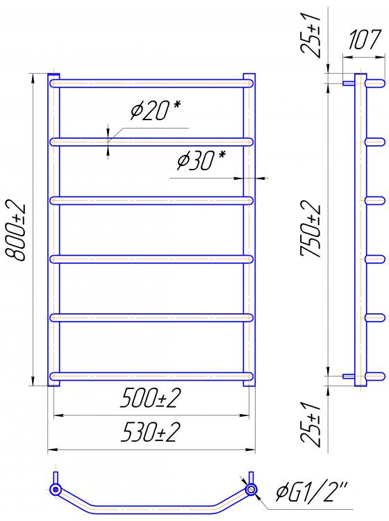 Купити Трапеція HP 800x530/500